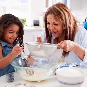 Grandma's secret baking tips - Grandma baking with granddaughter