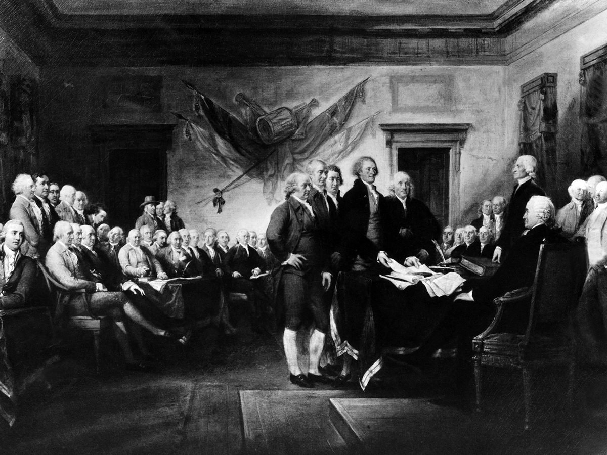 History questions - Signing the Declaration of Independence