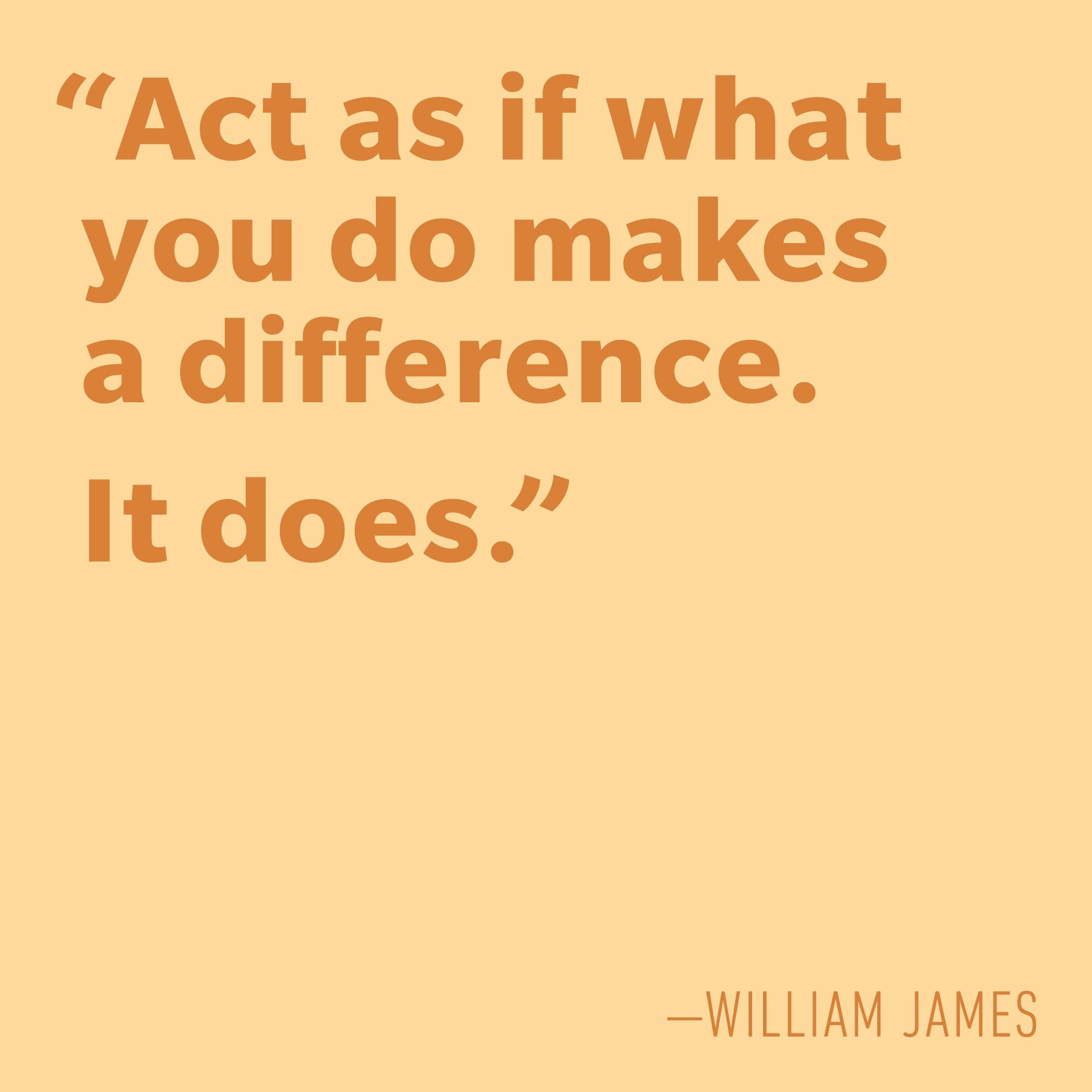 Motivational quotes - William James