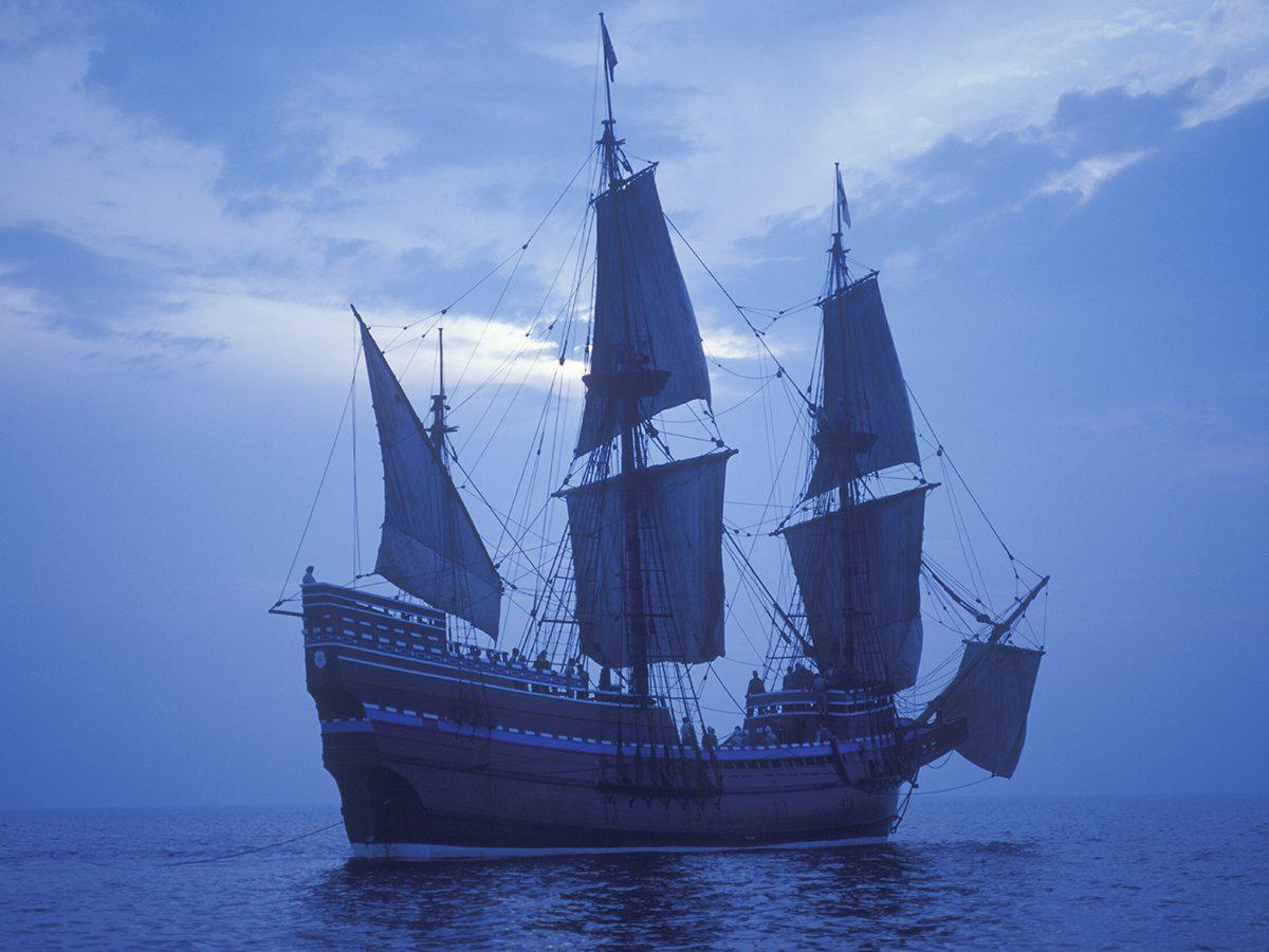 Pilgrims on the Mayflower