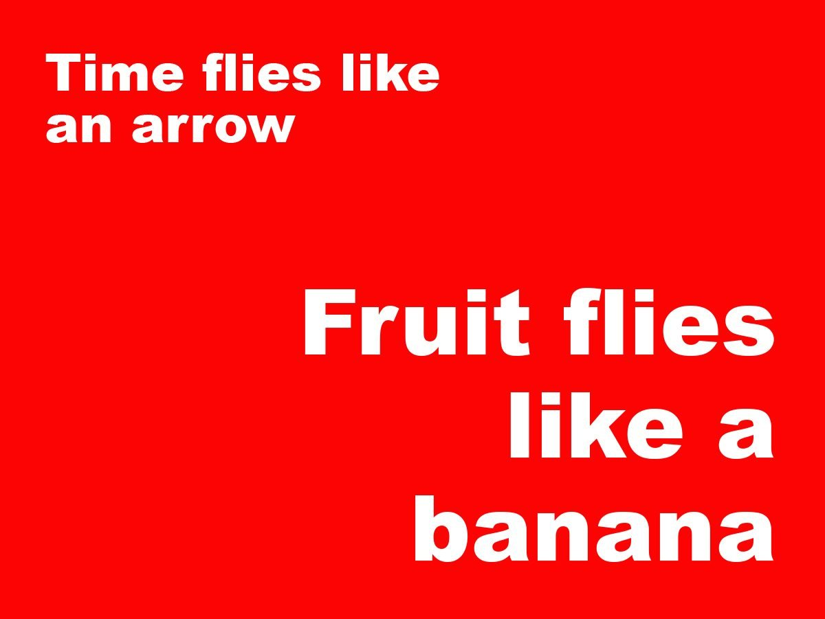 Short jokes - Time flies like an arrow