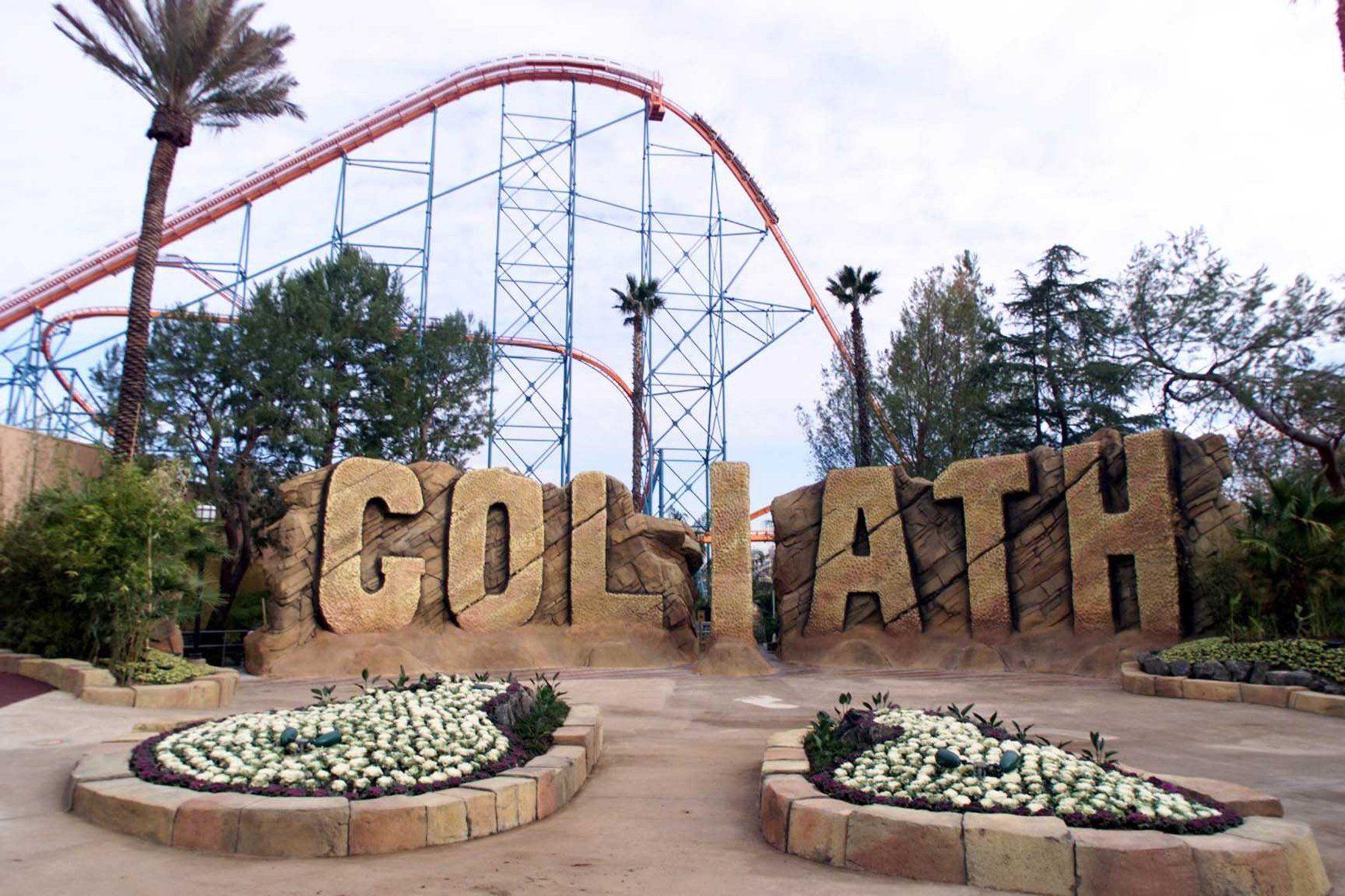 goliath roller coaster six flags magic mountain