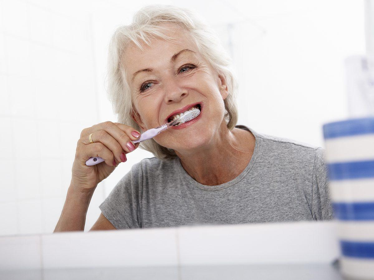 Things that slow down aging - brushing teeth