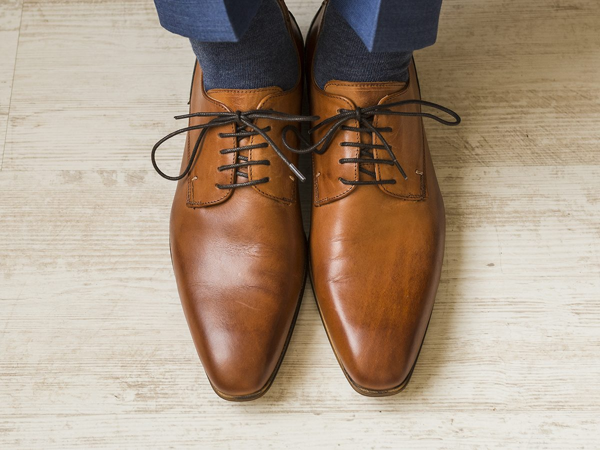 Things to do with toothpaste - dress shoes