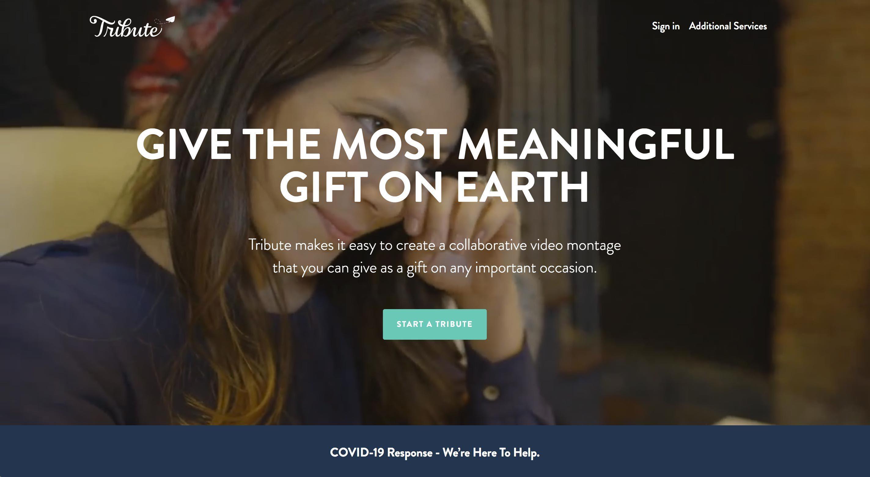 tribute homepage