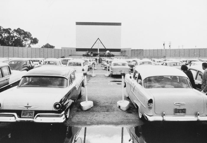 vintage car features - classic cars at retro drive in theatre