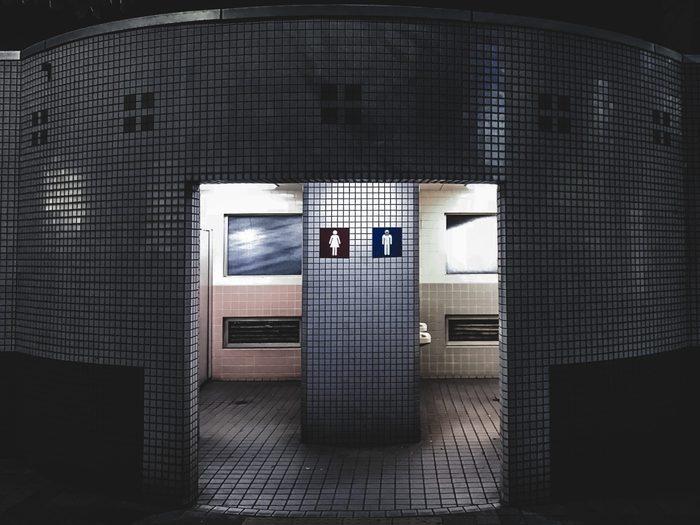 public washrooms during COVID-19