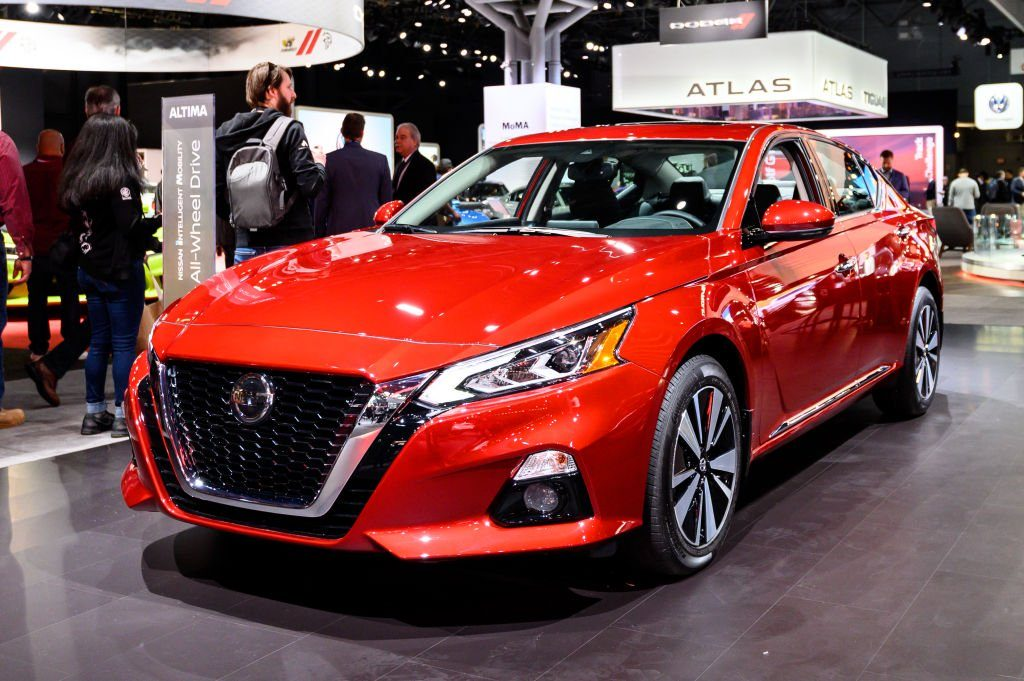 Nissan Altima seen at the New York International Auto Show...