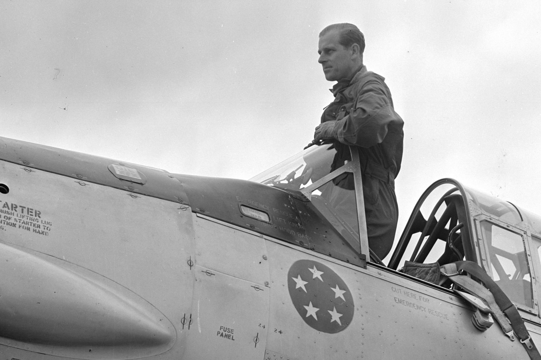 Prince Philip In Cockpit