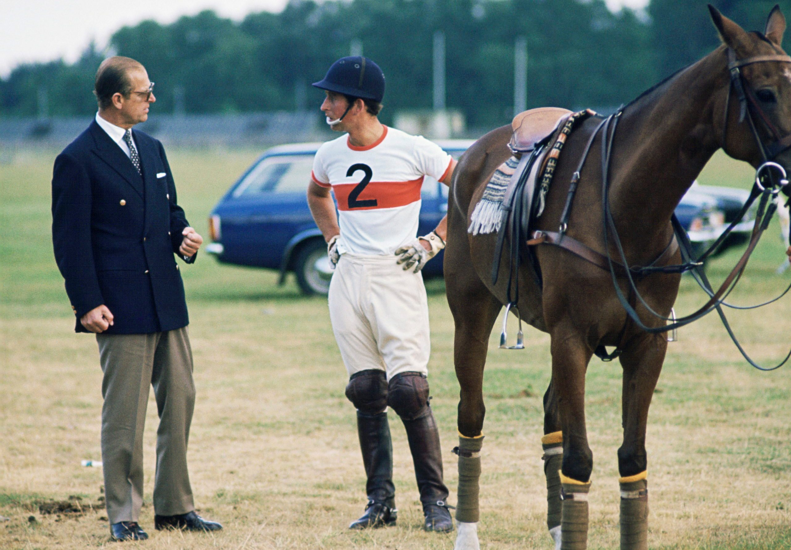 Charles And Philip At Polo