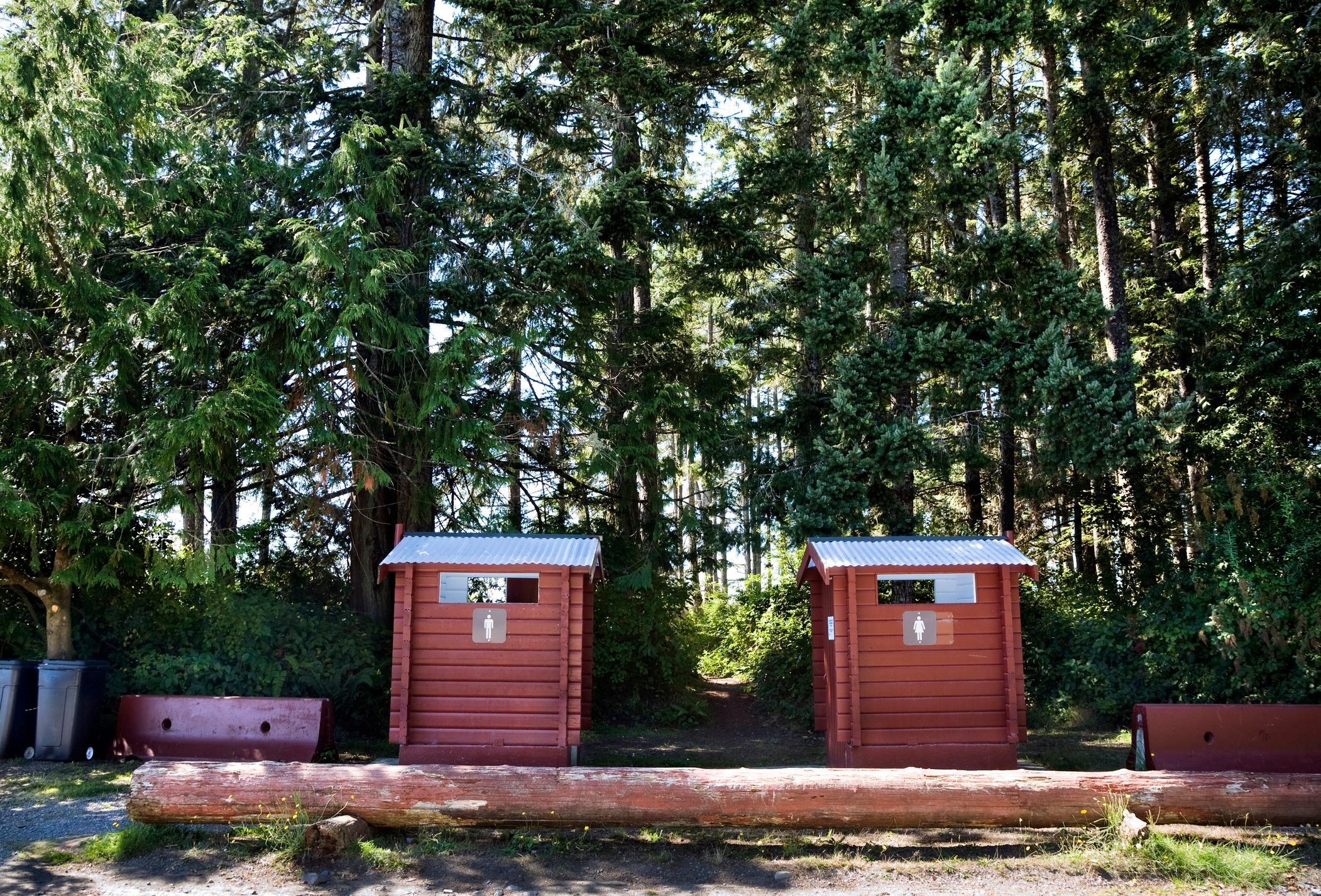 Public Toilets in Campground