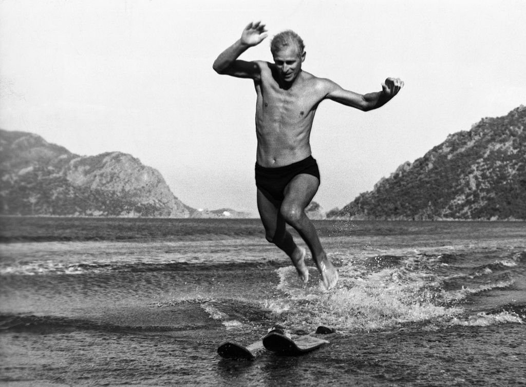 Duke of Edinburgh Water Skiing in Turkey, 1951