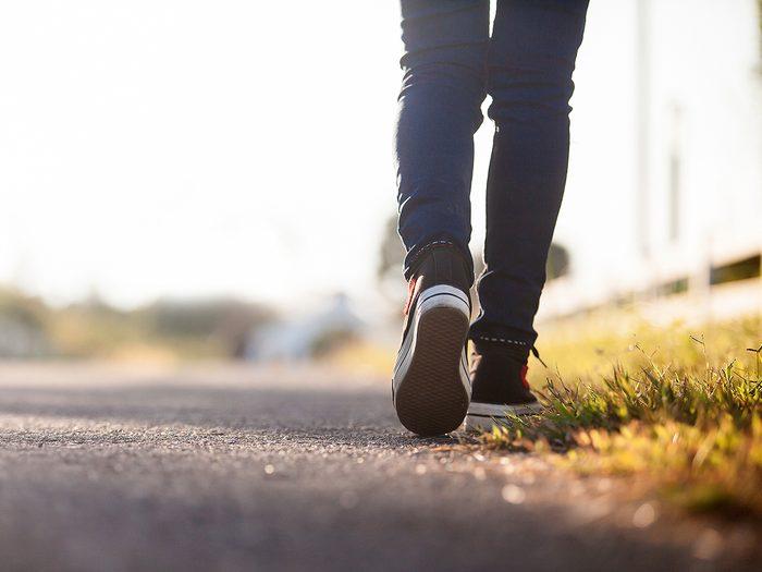 Back pain remedies - walking