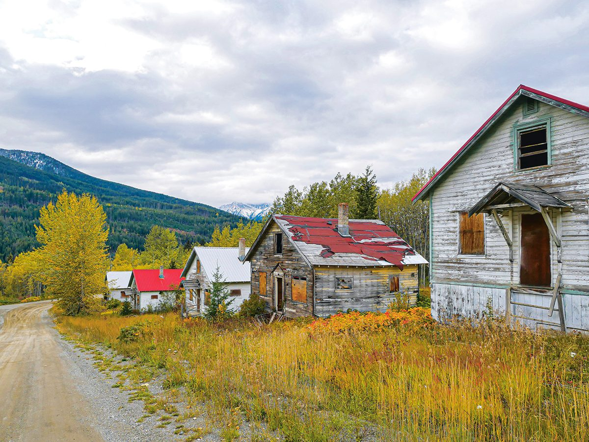 B.C. Ghost Town - Bradian, B.C. main street now