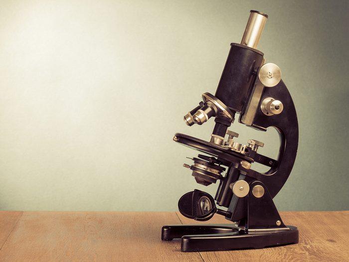 Canadian heroes - vintage microscope