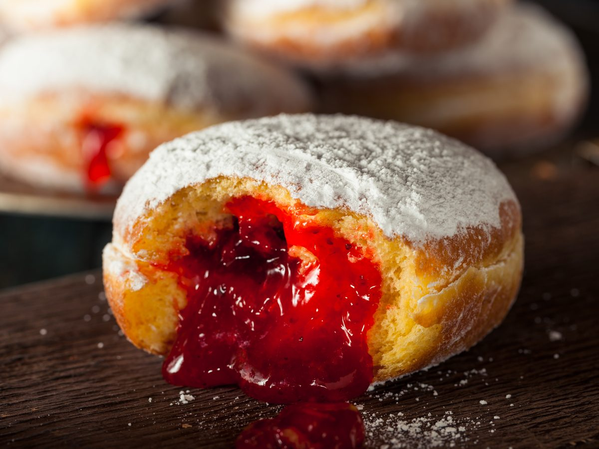 Jam-filled doughnut