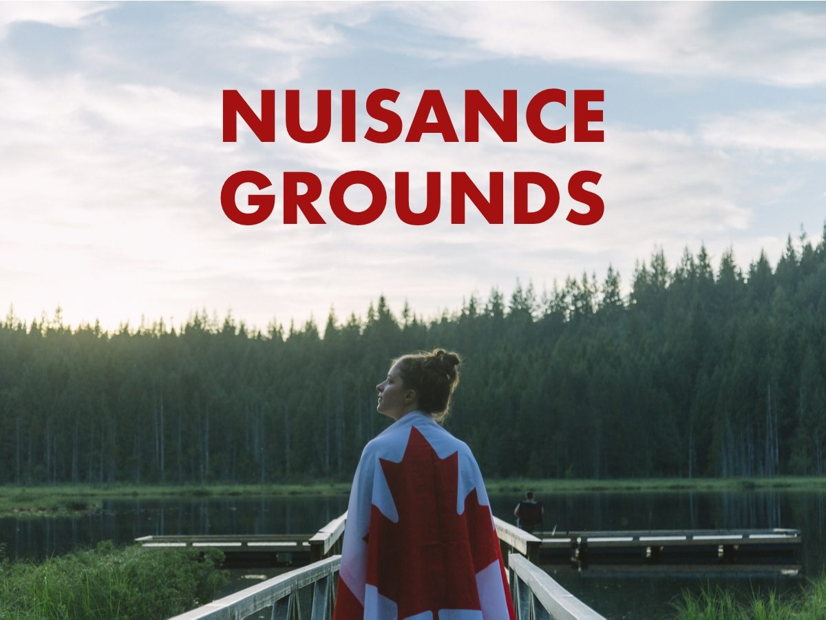 Canadian slang terms - Nuisance grounds