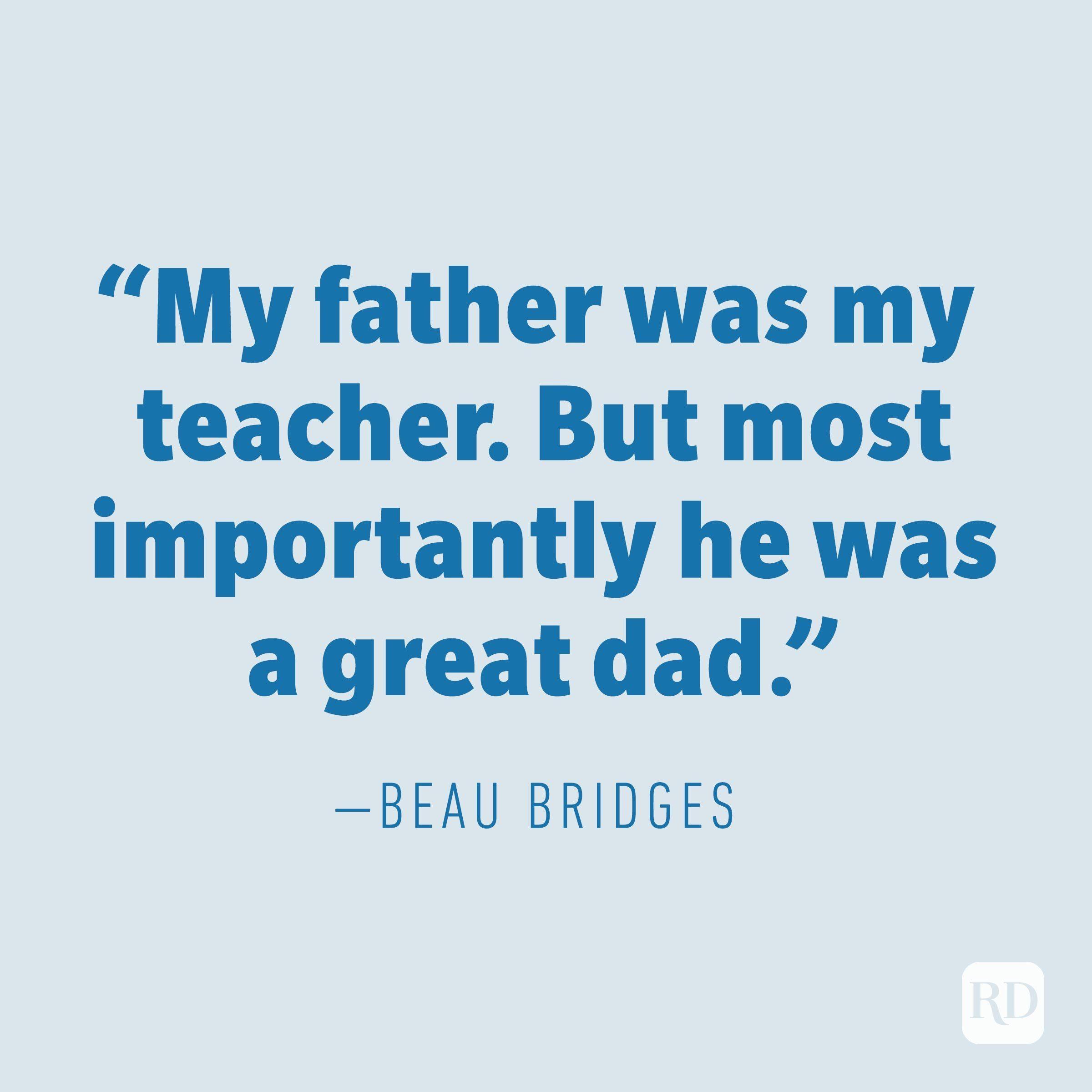 Beau Bridges quote