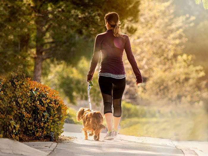 How to promote healthy bowel movements - woman walking