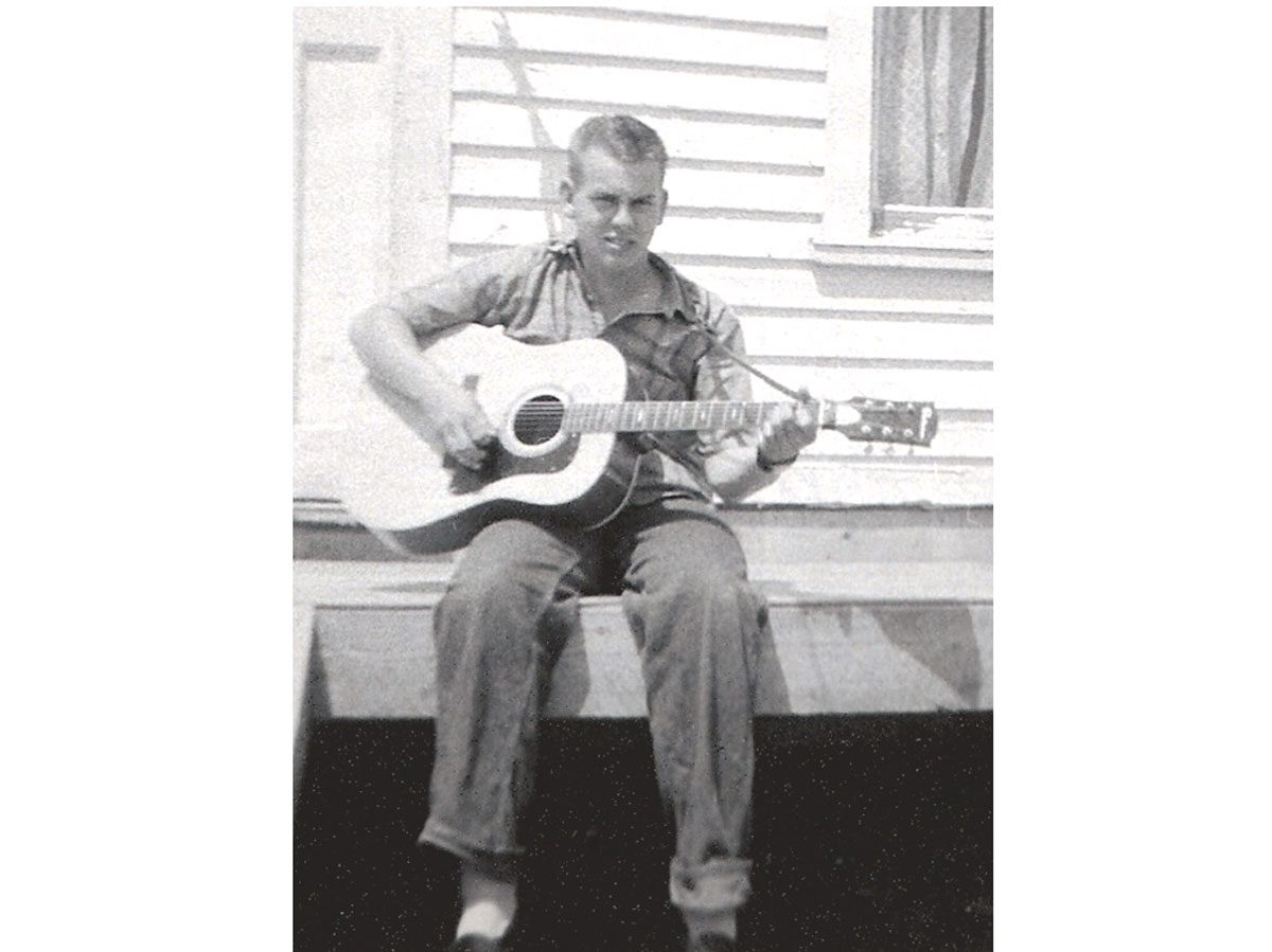 Peter Trenholm as a teenager