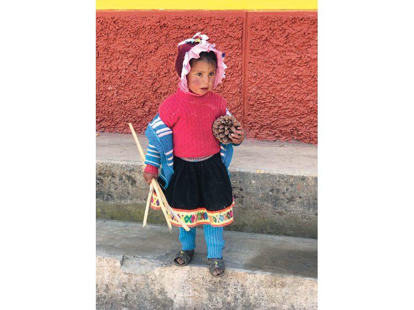 Quechua child in Peru
