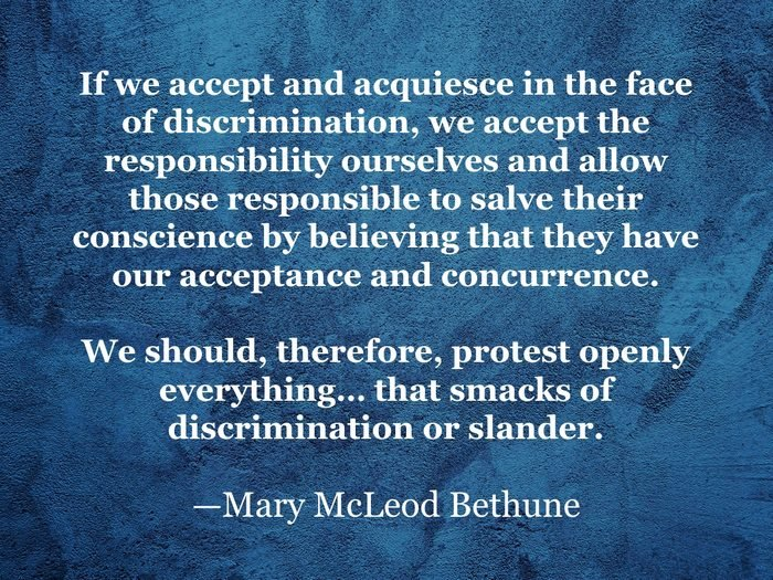 Mary McLeod Bethune quote