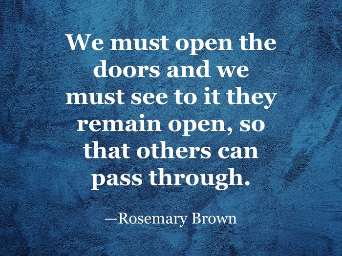 Rosemary Brown quote