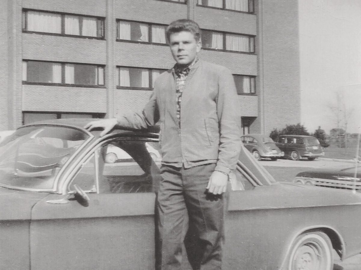 Patricia's future husband Glenn and his 1964 Corvair