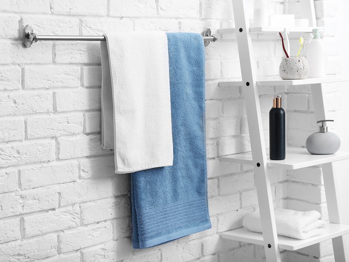Towels Hanging In Bathroom
