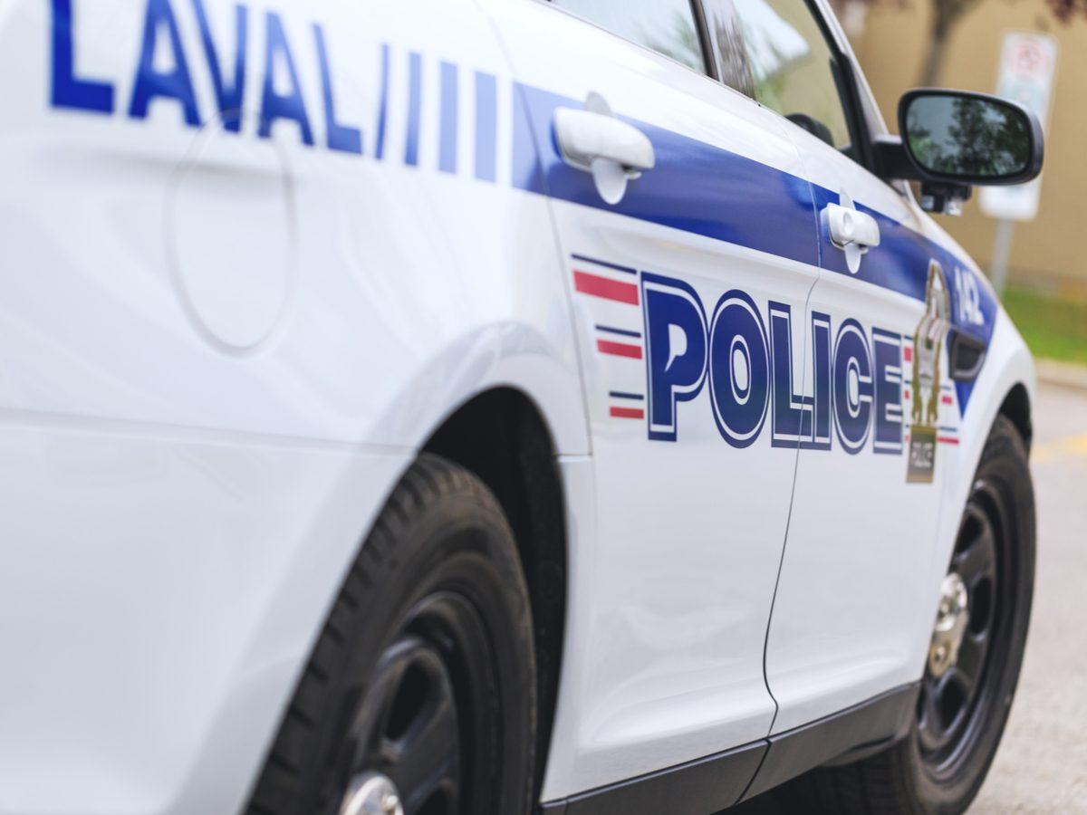 Exterior of Quebec police car