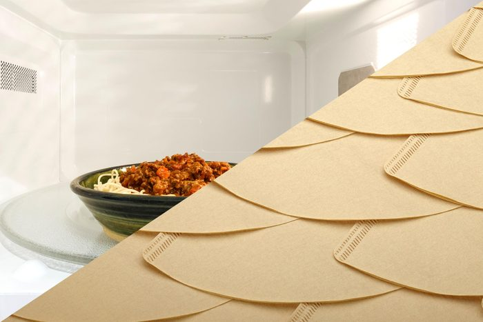 Uses for coffee filters - Cover food in microwave