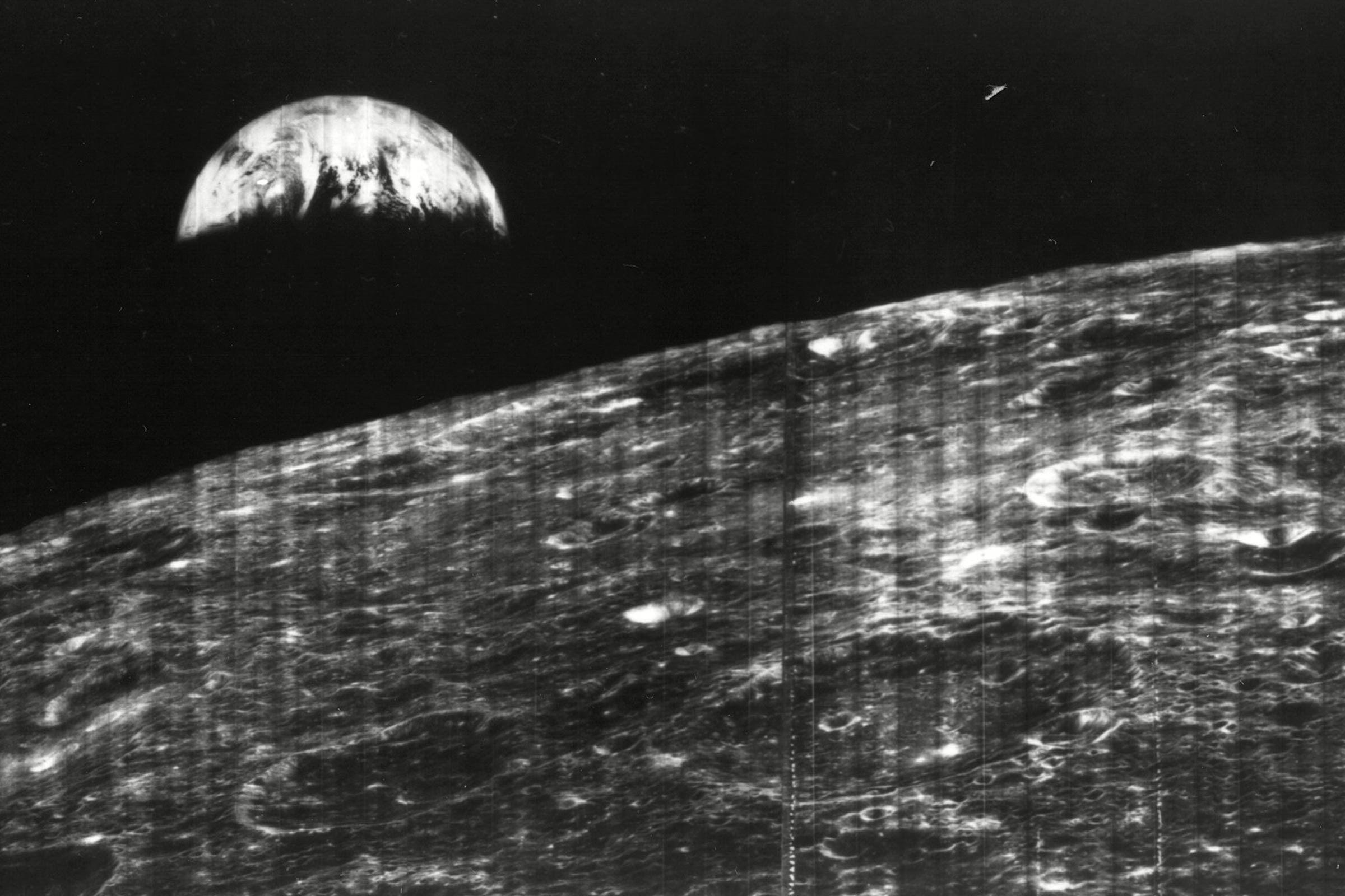 The World's First View of Earth