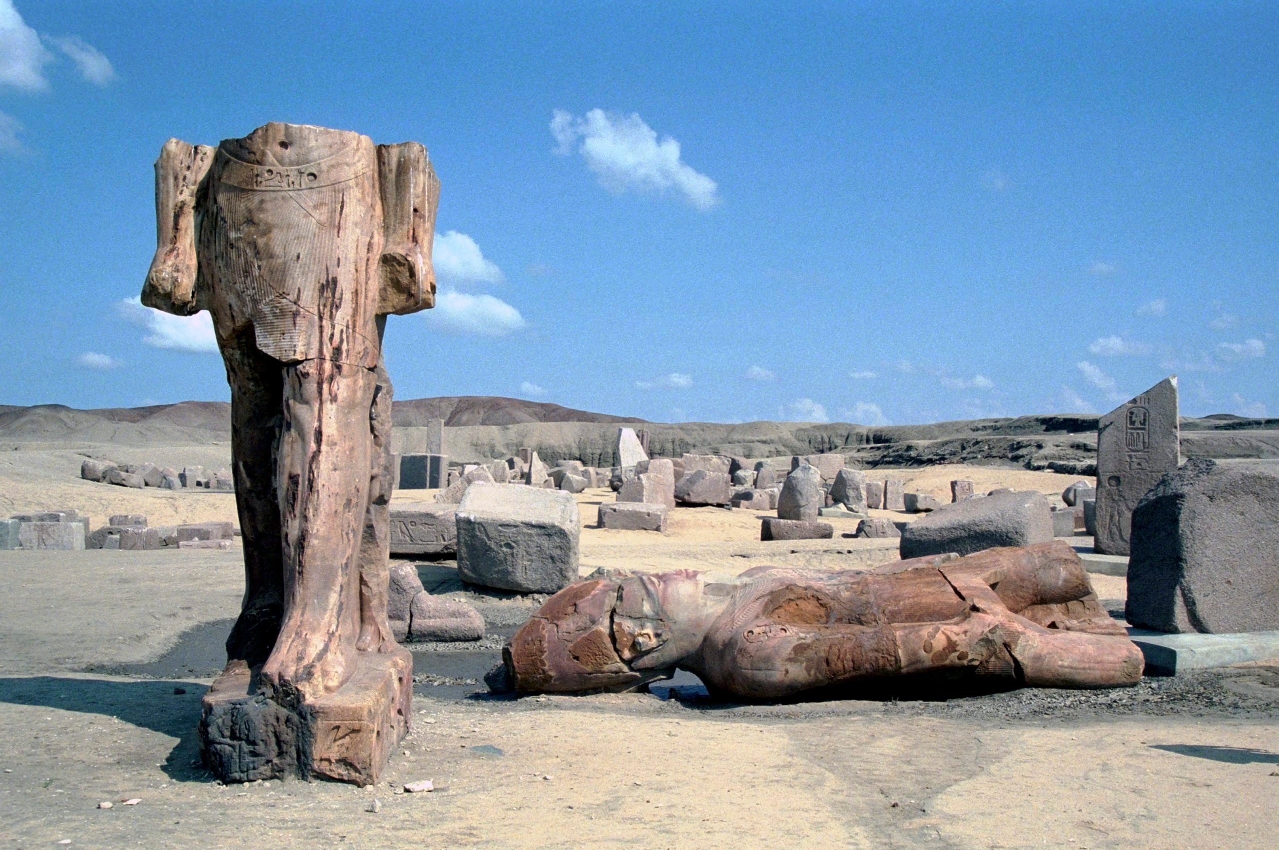 Ruins of the ancient city of Tanis, Egypt.