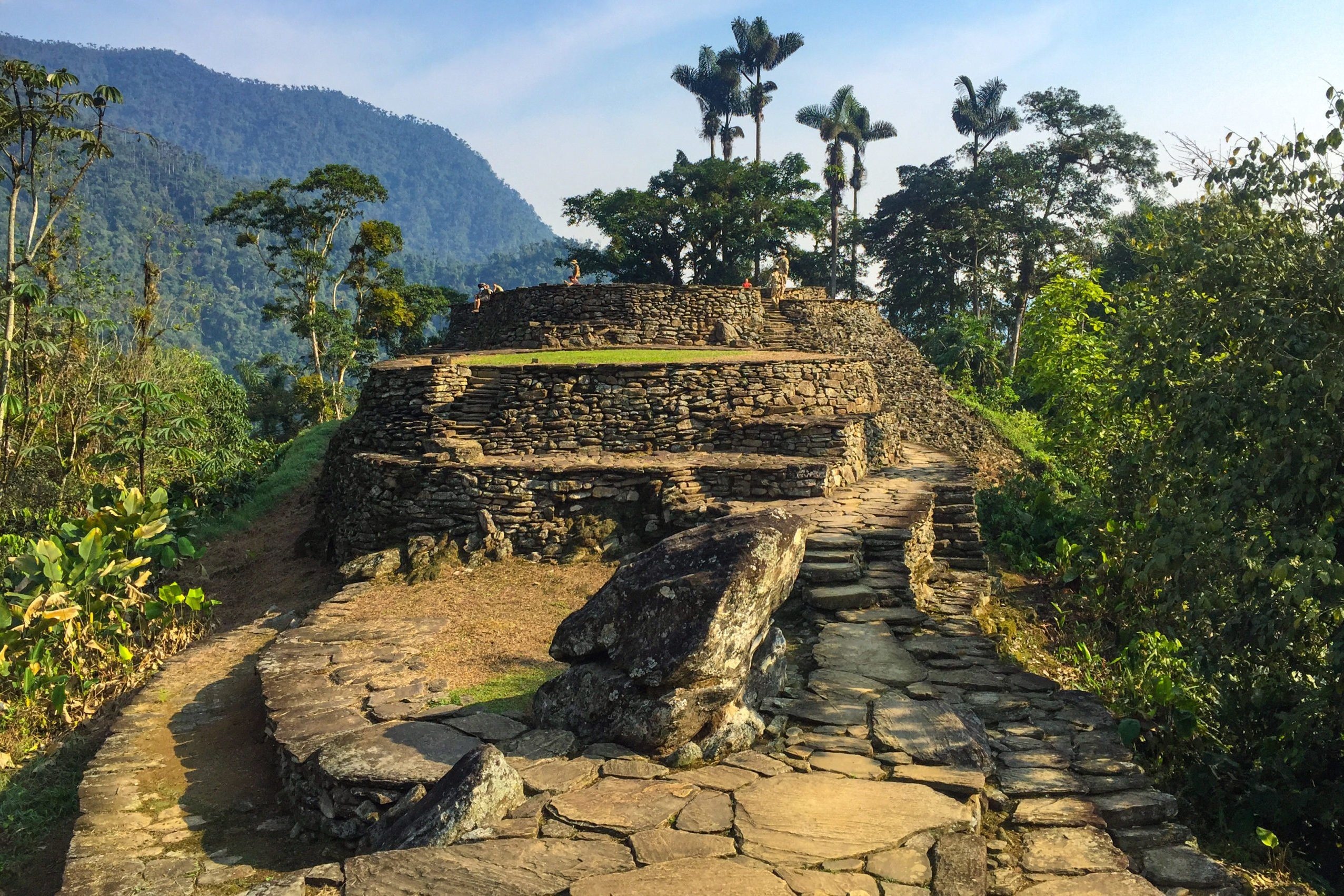 The Famous and Tourist Tayrona Park, the Ciudad Perdida (Lost City) in Magdalena / Colombia, full of Nature, Vegetation, History and Culture