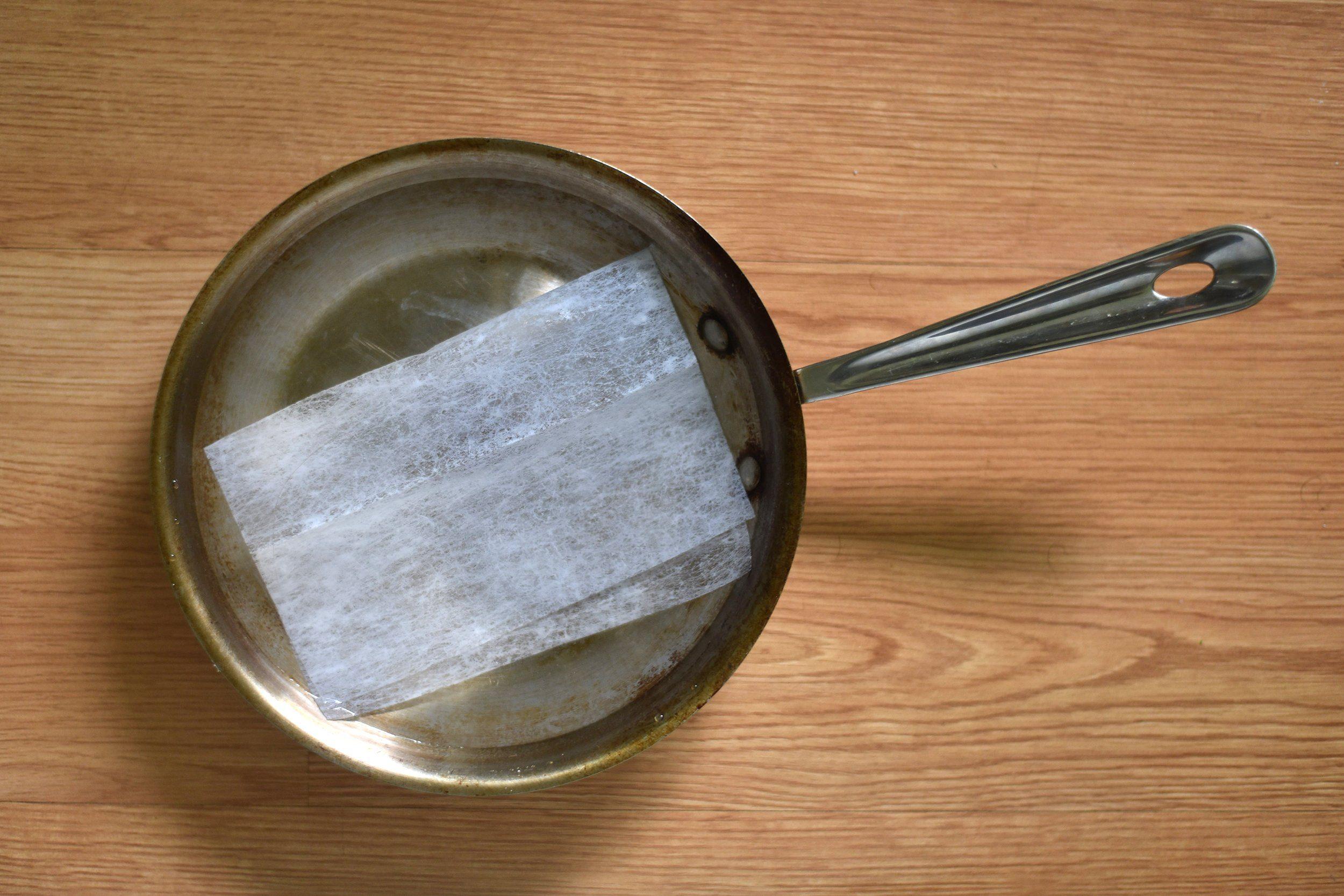dryer sheet burnt food
