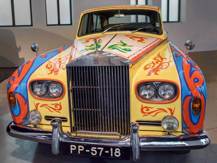 Celebrity owned cars - John Lennon psychedelic 1965 Phantom V Rolls Royce replica