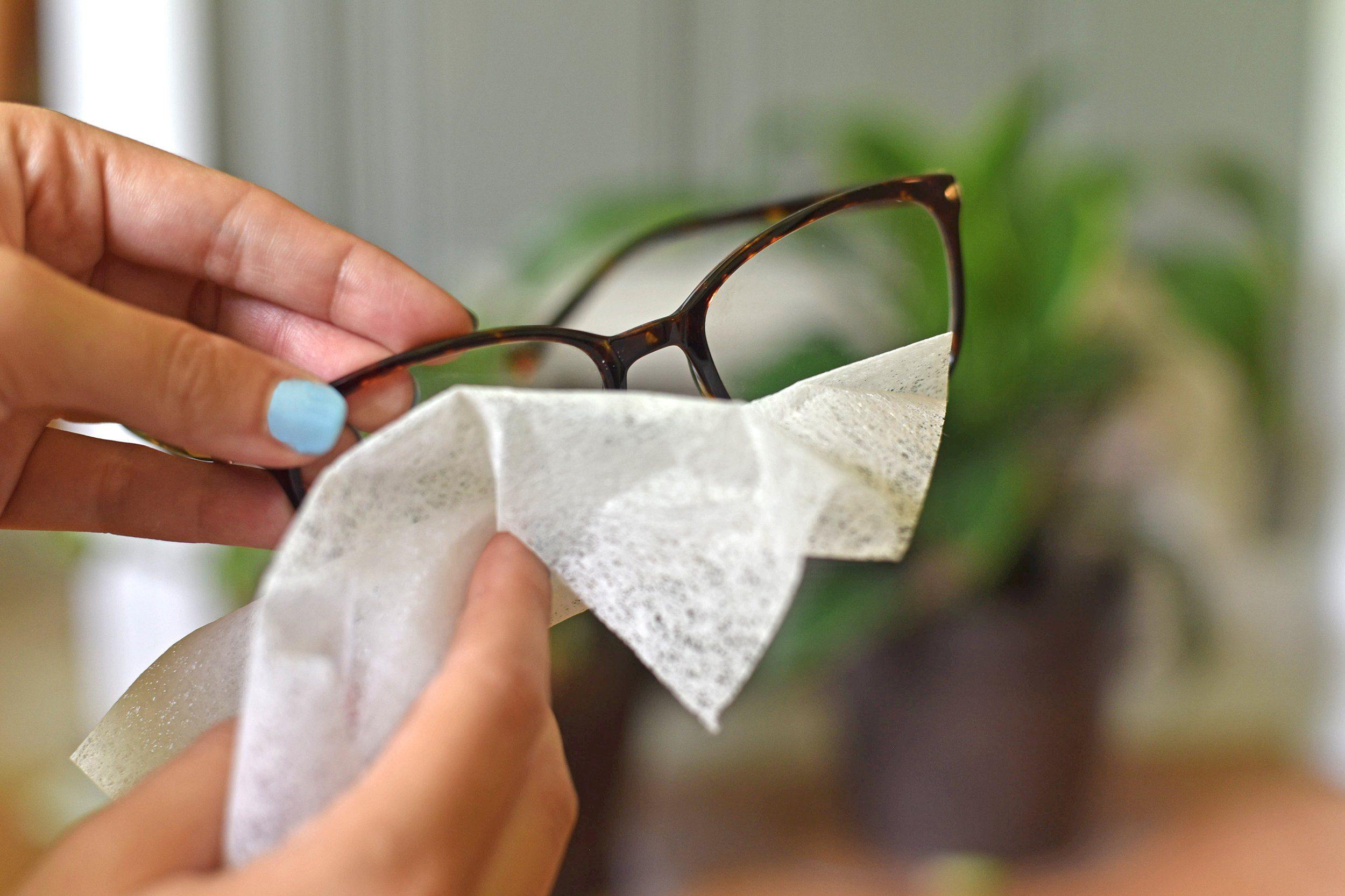 eyeglasses dryer sheets
