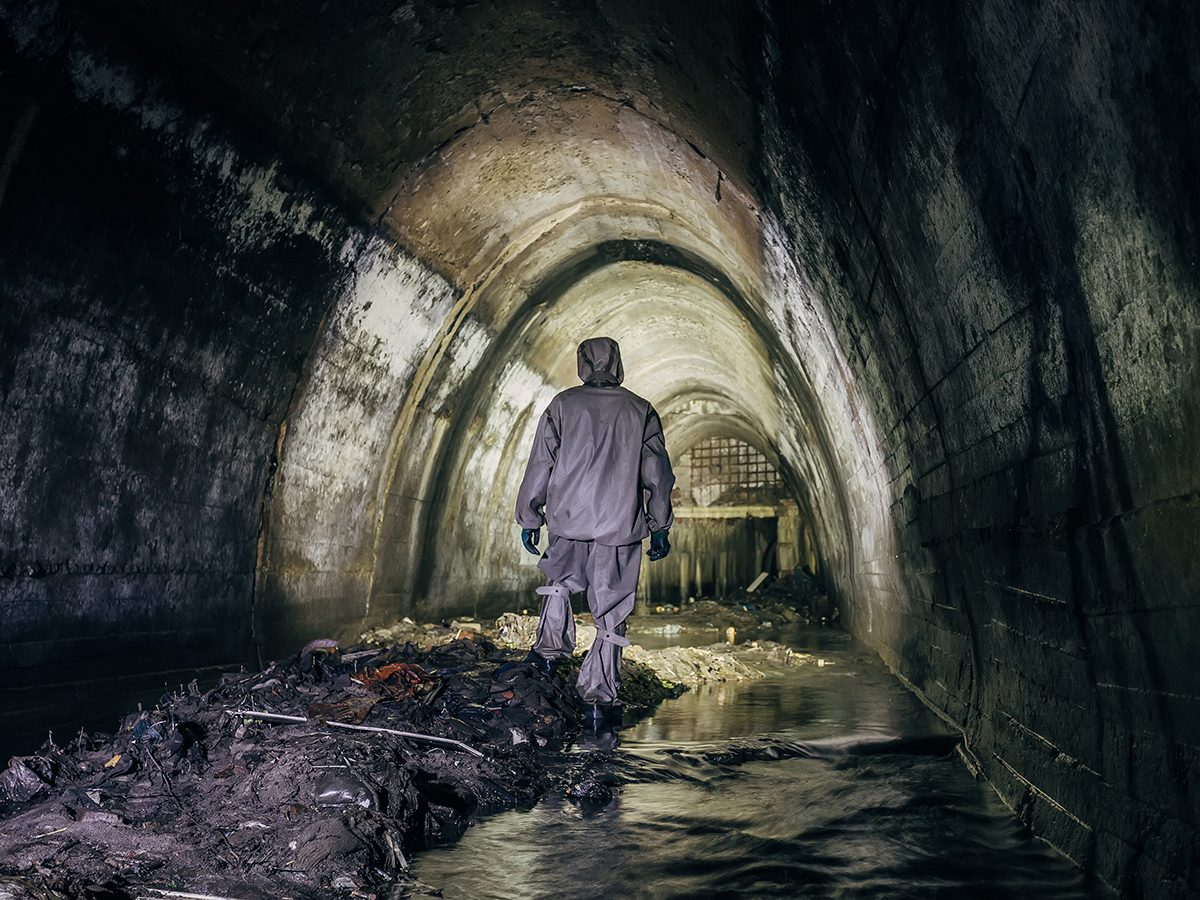 Good news - sewer tunnel exploration