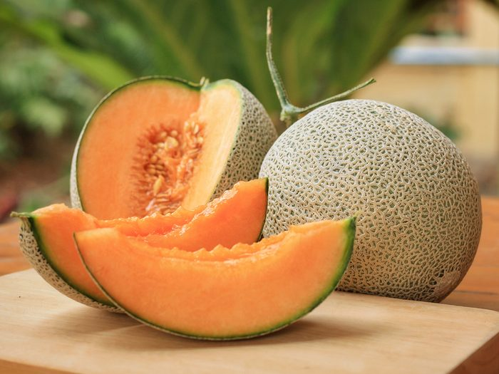 Health benefits of cantaloupe - open cantaloupe