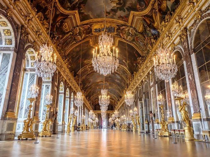 History jokes - Palace of Versaiiles Hall of Mirrors