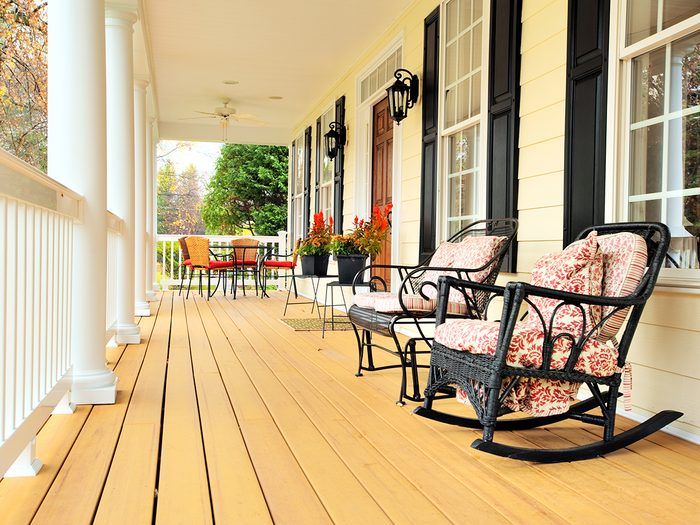 How to boost curb appeal - front porch chairs
