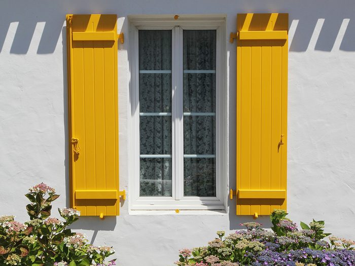 How to boost curb appeal - painted house shutters