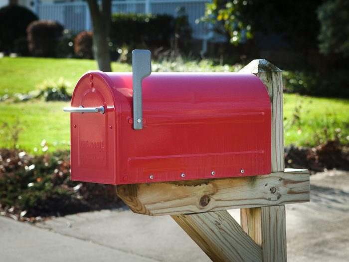 How to boost curb appeal - new red mailbox