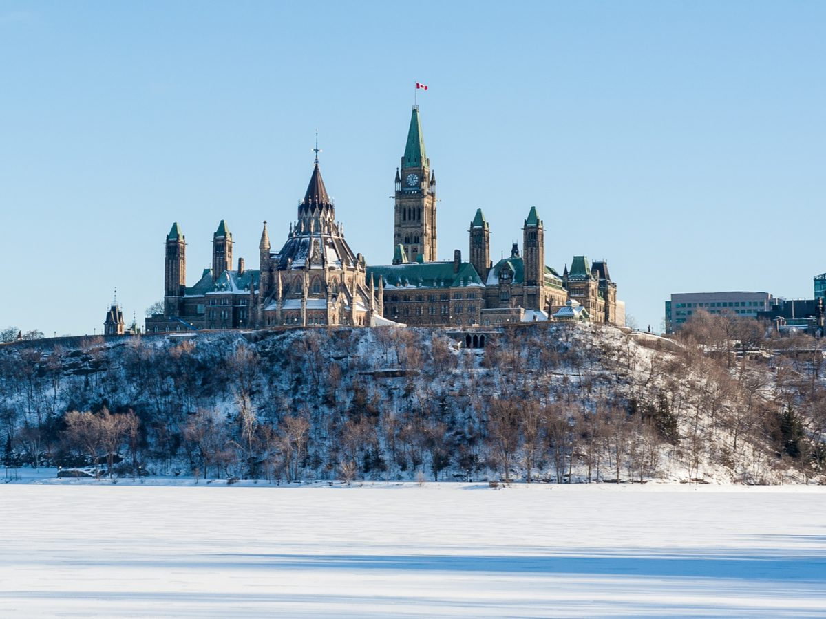 Canadian geography - Parliament Hill, Ottawa in winter