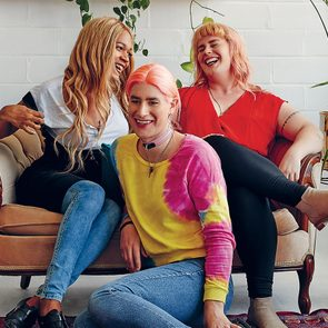 Elle Barbara, Estelle Davis and Lenore Claire raise discretionary funds for transfeminine Montrealers