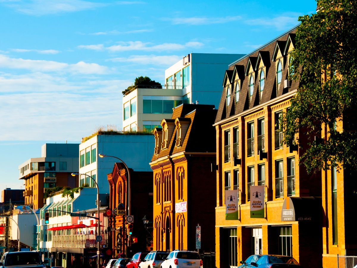 Main street in Halifax, Nova Scotia