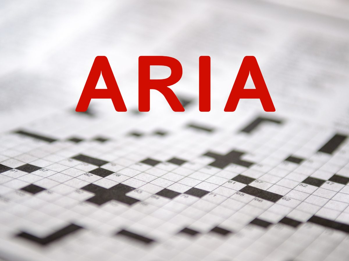 Crossword puzzle words: Aria