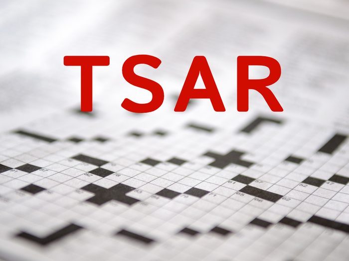 Crossword puzzle answers - Tsar