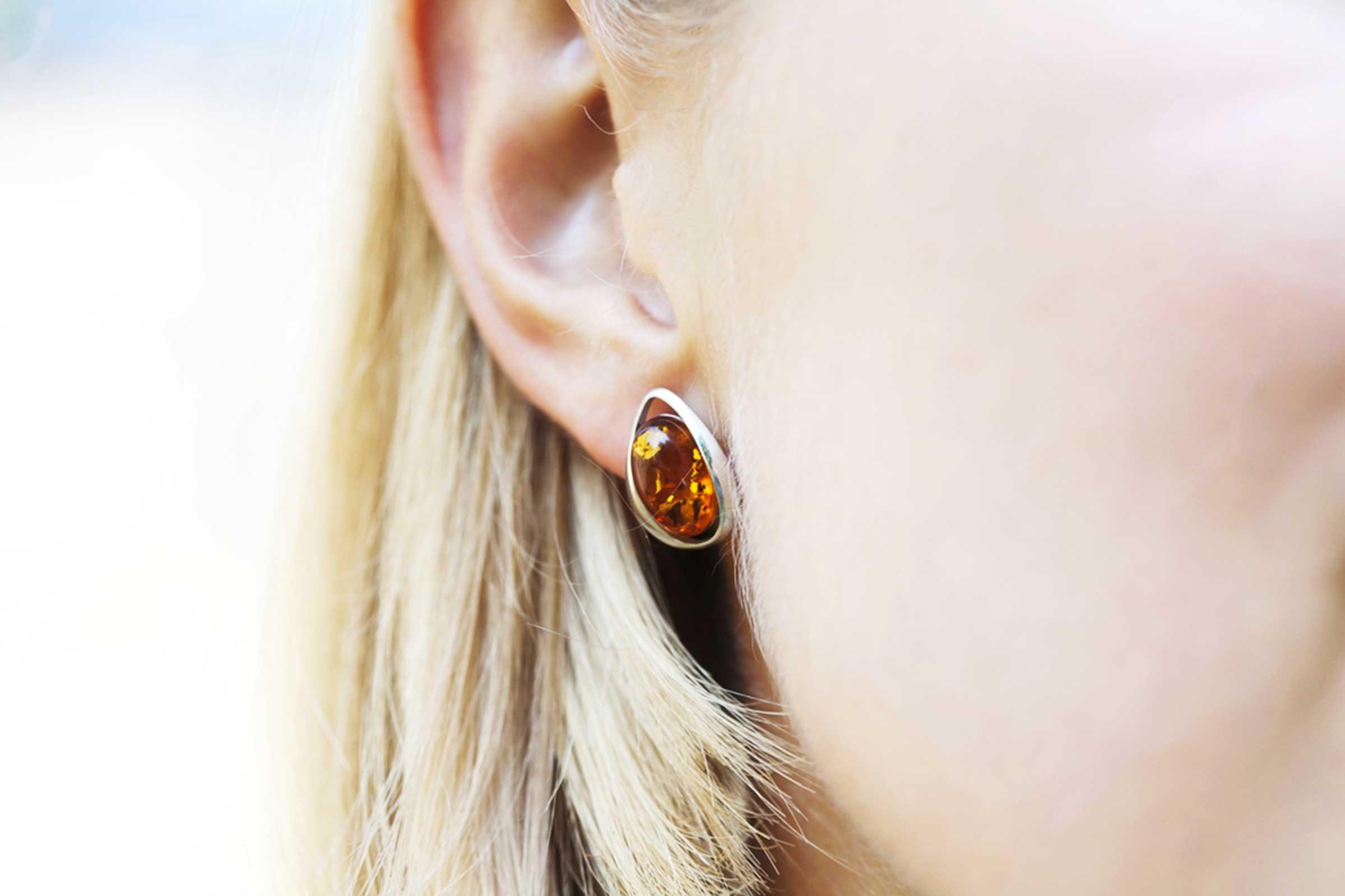 closeup of woman's ears
