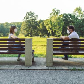 Maintaining social distance in a public place